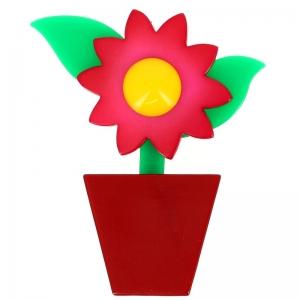 fleur en pot rose et carmin