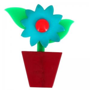 fleur en pot ruequois et carmin