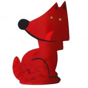loup garou rouge pommele