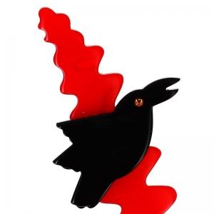 merle branche noir et rouge