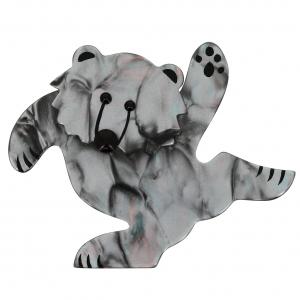 ours dansant gris agate
