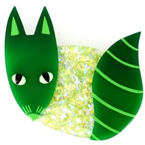 renard rond vert brillant et vert2