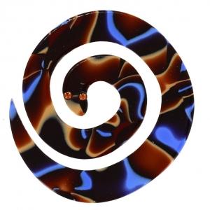serpent enroule motifs bleus